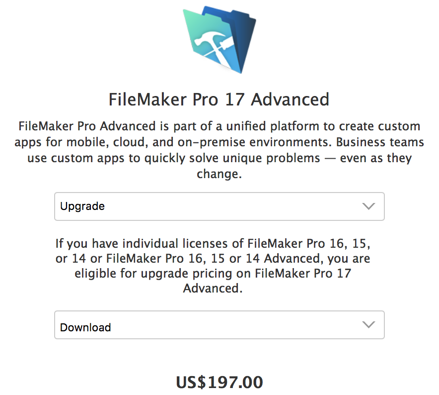 FileMaker 17 was Released this Morning May 15 2018